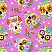 sugar skulls - medium pink