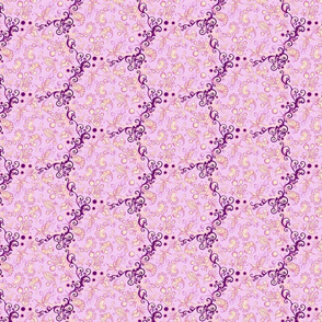 Ornate Lacy Shapes- Small- Light Pink Background