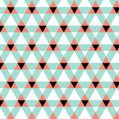 Triangulations   v2   -Coral+Mint+Black+White