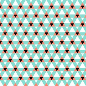Triangulations   v2   -Coral+Mint+Black+White