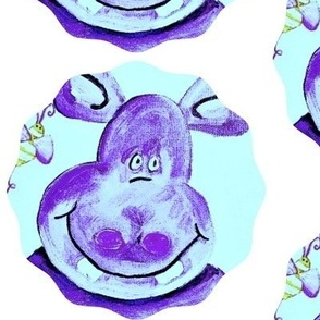 Blue Hippo Circle