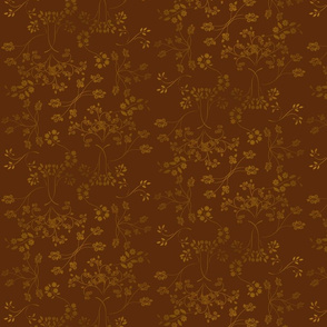 Abstract Floral in Brown