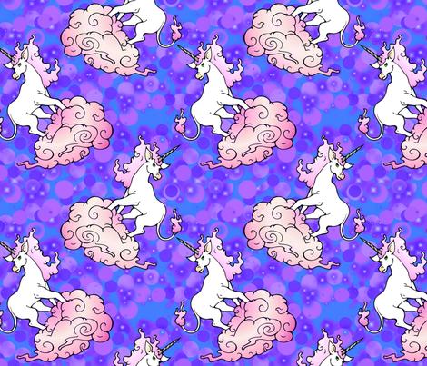 purple blue misty unicorns