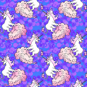 purple blue misty unicorns