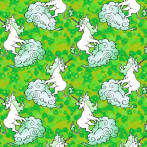 candy green unicorns