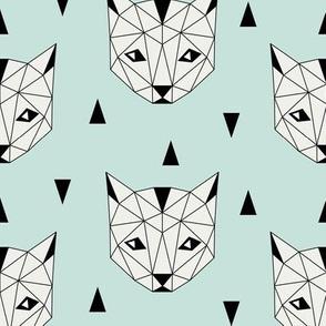 Geo Cat - Mint