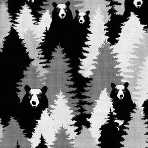 Bear Camo Black & White