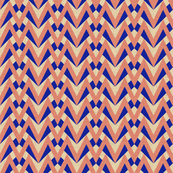 chevron - coral, navy