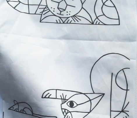 Cubist cats white