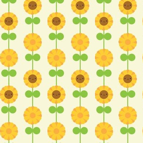 Kawaii Sunflower Stripe (Cream)