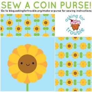 Sunflower Coin Purse - Cut & Sew Pattern