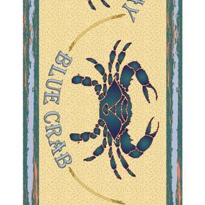 Blue Crab Border Large