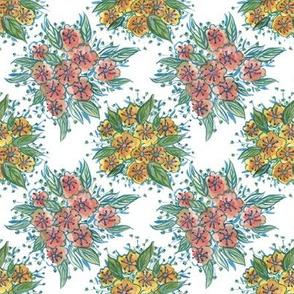Watercolour Flower Tile