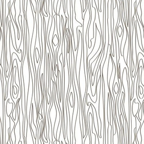 Woodgrain - White with Brown Grain - small scale