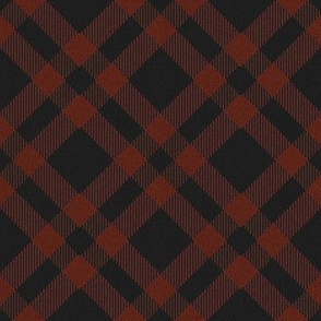 Red and Charcoal Plaid