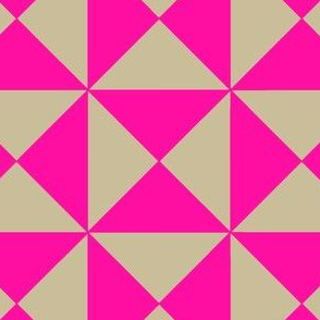 Trigonometry Neon Pink and Natural