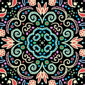 midnight neon intricate kaleidoscope