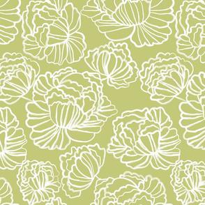 Sketched Peonies, Leaf