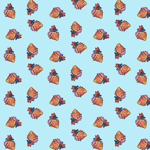 Hearts in Robin's Egg Blue