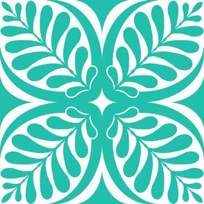 Fern Block Turquoise