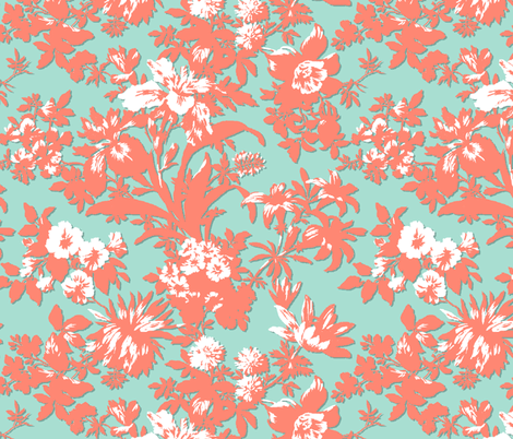 Mint and Coral Bouquet