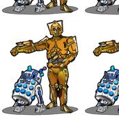 R2 Dalek & Cyber 3PO