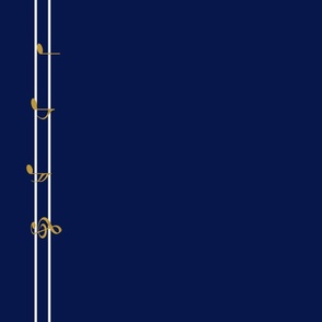 Striped Music Note Royal Blue