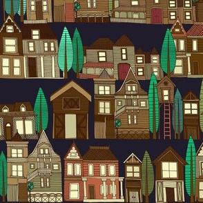wooden buildings basalt