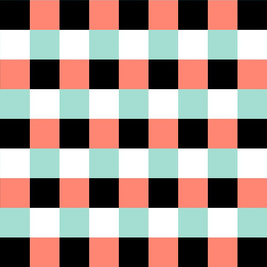 Coral and Mint Graphic block