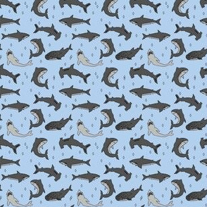 sharks // shark fabric hand-drawn shark pattern for boys kids room sharks boys fashion andrea lauren
