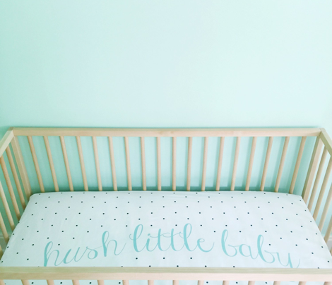 hush little baby crib sheet