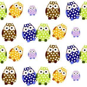 Polka Dot Owls Multicolor