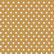 Gold white polka