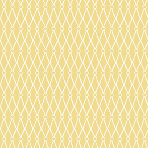 White Fish Net Pattern on Yellow