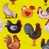 We Love Chickens, in Yellow