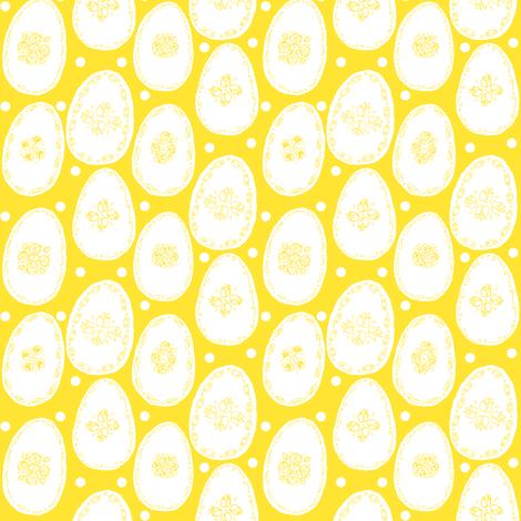 White eggs on yellow