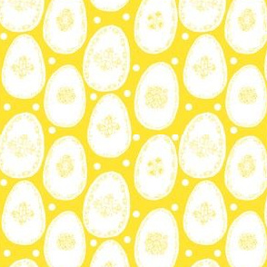 White eggs on yellow