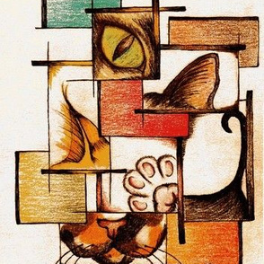 Cubist Feline