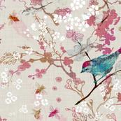 Birds + Blossoms (Rose)