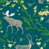 Woodland Spring Toile (Dark)