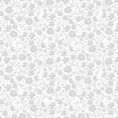 Summer floral - Grey (larger pattern)