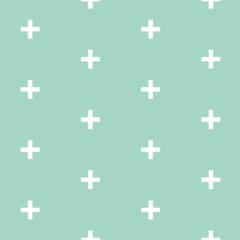 mint cross brick pattern
