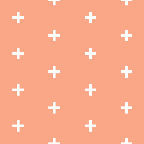 peach cross brick pattern