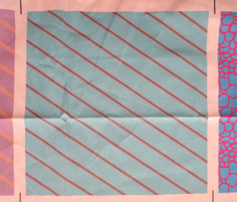 Turquoise Tangerine Wide Stripe 2