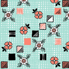 coral_mint_black_white_woven_toss