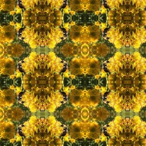 tapestry in yellow