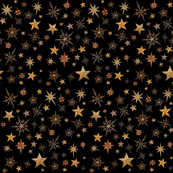 Steampunk Stars on black