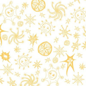 Colourful Celestials - Zingy Light - Daffodil Yellow