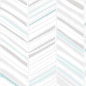 Herringbone Hues of Aqua by Friztin