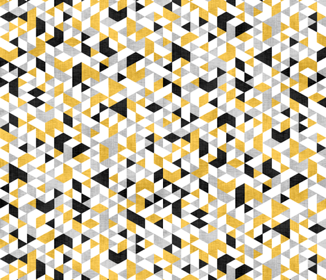 Geometric Background Silver & Gold